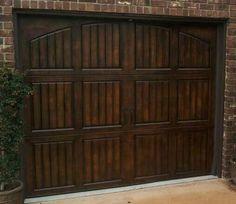 Faux Wood Garage Doors - Metal garage doors painted to look like wood. A simple solution to adding value to your house. Faux Wood Garage Door, Metal Garage Doors, Metal Garages, Steel Garage, Timber Garage, Wooden Doors, Garage House, Living At Home, My New Room