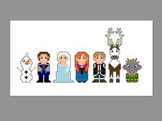 Frozen Pixel People Character Cross Stitch PDF PATTERN ONLY on Etsy, £2.74