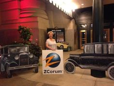 ZCorum's CEO, Julie Compann makes being a rockstar look cool at the Union Station Party held at The Independent Show in Kansas City, MO.