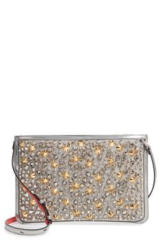 Christian Louboutin Loubiclutch Studded Glitter Crossbody Clutch available  at  Nordstrom baae632bf6