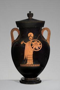 Greek, Attic, attributed to the Berlin Painter, Greek, Attic, fl. ca. 500-ca. 460 B.C.Red-figure Amphora of Type A: A, Athena; B, Herakles, ca. 500–490 B.C. Ceramic, 67.4 × 79 × diam. 42.8 cm.