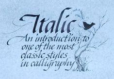 Calligraphy – Formal Italic Class Series – Jan 17 & 24 | Ruth ...