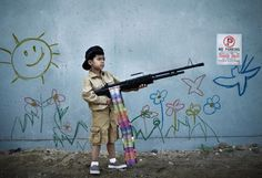 real-life banksy re-creations by nick stern.