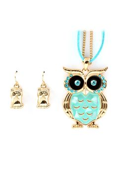 Mother of Pearl Embedded Owl Pendant