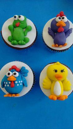 Cupcakes galinha pintadinha, by Cupcakes Camile, FB Elenucia Gasparin, Brasil