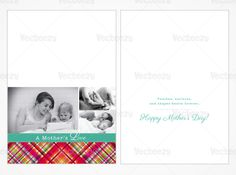 Classic plaid Mother's Day card - add your own photos