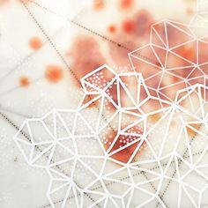 Detail, salt study. Encaustic. #peripheryproject #instaart #abstractart #geometric #contemporarypainting #encaustic
