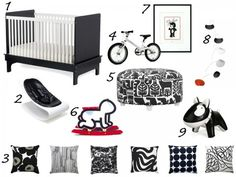 black and white nursery from buy modern baby