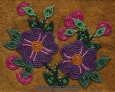 The Virtual Museum of Métis History and Culture - Daily Good Pin Beaded Flowers Patterns, Bead Embroidery Patterns, Loom Patterns, Beaded Embroidery, Beading Patterns, Beading Ideas, Native Beadwork, Native American Beadwork, Indian Beadwork