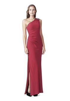 Floor Length One Shoulder Chiffon Zipper Back Sheath/ Column Evening Gown With Side Slit - 1300305438B - US$199.99 - BellasDress