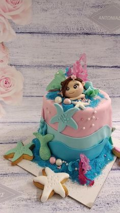 Mermaid Summer Cakes, Mermaid, Birthday Cake, Desserts, Food, Tailgate Desserts, Birthday Cakes, Deserts, Eten