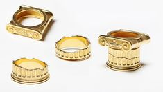 """Ionic Wedding Rings"" 