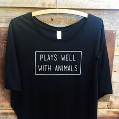 Do you kiss every dog? Nuzzle every cat? Pet every goat? Cuddle every bunny? Then this is the top for you! Made in New York, designed & printed in Denver, CO 70% bamboo, 30% organic cotton. ** In thes