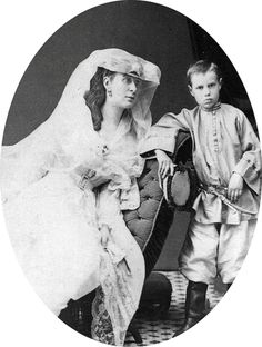 "romanovsonelastdance: ""Grand Duchess Alexandra Iosifovna and her son Vyacheslav. """