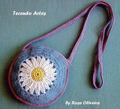 Tecendo Artes em Crochet: Bolsinha para Meninas Charmosas