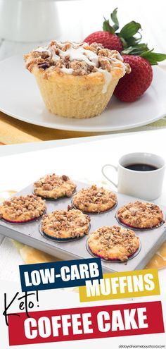 A bakery favorite goes keto! These Coffee Cake Muffins will be your new favorite low carb breakfast treat. Tender cinnamon crumb topping on a sugar free almond flour muffin. #ketorecipes #ketomuffins #coffeecake #sugarfree #ketodiet #breakfast #lowcarb