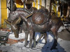 This sculpture dedicated to the Gold Mining history in Breckenridge Colorado~