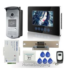 "FREE SHIPPING Touch Monitor 7"" Screen Video Intercom Door Phone Doorbell System RFID Door Camera + Strike lock + Remote IN STOCK #Affiliate"
