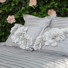 Great site for designer bedding   Floral Belles Bedding Accessories Duvet Cover   Crane and Canopy