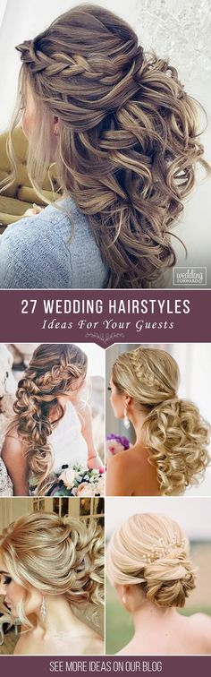 27 Chic And Easy Wedding Guest Hairstyles ❤ Wedding guest hairstyles should be fancy, rather effortless than very difficult. In our gallery we have something any female guest would want for sure! See more: http://www.weddingforward.com/wedding-guest-hairstyles/