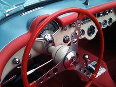 vintage Corvette interior (credit to The Aesthetic Poetic)
