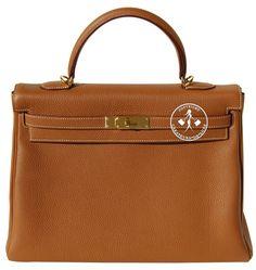 Hermès Gold Togo Leather Kelly Handbag with Gold Hardware Gold Handbags, Hermes Handbags, Handbags On Sale, Hermes Kelly, Gold Hardware, Leather, Stuff To Buy, Lush, Bijoux