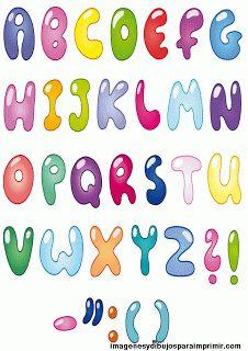 Letras infantiles. Abecedario para imprimir.