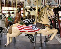 Jumping Flag Horse, part of the Greenfield Village Carousel