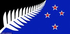 This option, designed by Kyle Lockwood, was most popular among those who participated in a poll on a New Zealand news website and retains the Southern Cross element from the current New Zealand flag