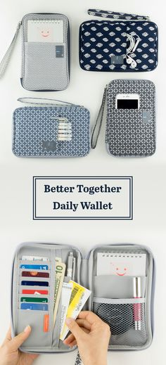A super functional carry-all Better Together Daily Wallet Mini Happy Planner ? Diy Sac, Things To Buy, Stuff To Buy, Better Together, Getting Organized, Purse Wallet, School Supplies, Just In Case, Purses And Bags