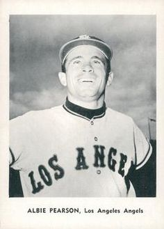 1961 Jay Publishing Los Angeles Angels #NNO Albie Pearson Front