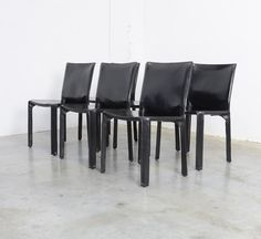 Set of 6 CAB Chairs by Mario Bellini for Cassina