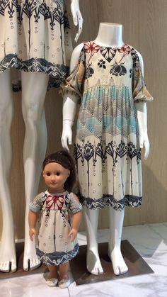 Vestidos infantil  Print polka dots  Estampa poá  Fashion dress Mãe e filha iguais Dia das Mães