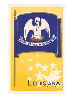 Flag of Louisiana Prints at AllPosters.com