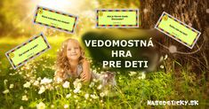 Vedomostná hra pre zvedavé deti - Nasedeticky.sk Homemade Toys, Back To School Activities, Games, Learning, Articles, Studying, Diy Toys, Gaming, Teaching