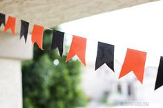 Duct tape party banner  (+ more tape ideas)
