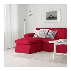EKTORP Canapea 2locuri+şezlong - Nordvalla roşu - IKEA