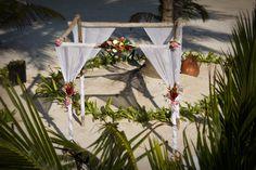 The setup from Jennifer and Tony's wedding #lasterrazas #belize #destinationwedding