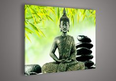Religion Buddha Green Wall Art Oil Painting On Canvas Paintings Modern Set High End Artwork(China (Mainland))