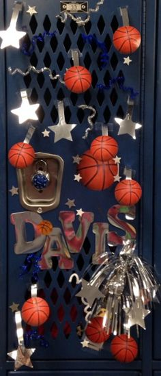locker room decoration - basketball d davis ~ 7th grade basketball