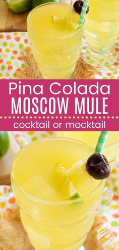 Pina Colada Mule Mocktail or Cocktail - combines two favorites into one sweet and sassy tropical drink with or without alcohol. Start with the bright and refreshing combination of pineapple and coconut rum and add the zingy spiced goodness ginger beer and lime from the traditional Moscow Mule. Swap the rum for coconut water for a treat the kids can enjoy! Homemade Manwich, Manwich Recipe, Cocktail And Mocktail, Refreshing Cocktails, Cocktail Recipes, Coconut Rum, Coconut Water, Ginger Beer, Spring Recipes
