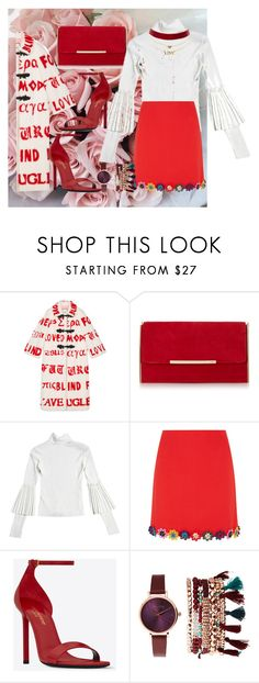 """""""Untitled #850"""" by brandi-gurrola on Polyvore featuring Gucci, Mary Katrantzou, Yves Saint Laurent, Jessica Carlyle and Charlotte Russe"""