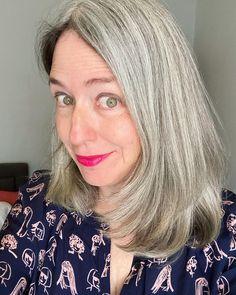 Long Silver Hair, Long Gray Hair, Grey Hair Inspiration, Boden Clothing, Transition To Gray Hair, Going Gray, Photos Of Women, Long Hair Styles, Pattern