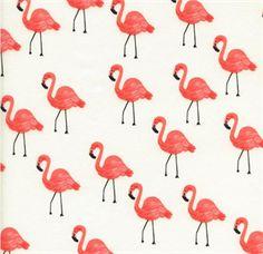 Flamingo\'s Ivory fra AGF. Designet af Cotton+Steel til kollektionen Les Fleurs for Art Gallery Fabrics :-)