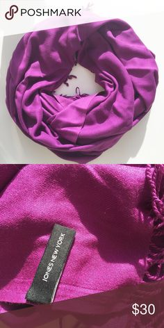 Stunning Fuschia Scarf / Pashmina Great condition!   🌟Top Rated Seller 💫1 Day Shipping Turn Around 🌺 100+ Items in Sale 🌈 Visit my Closet to Follow the Rainbow... Jones New York Accessories Scarves & Wraps