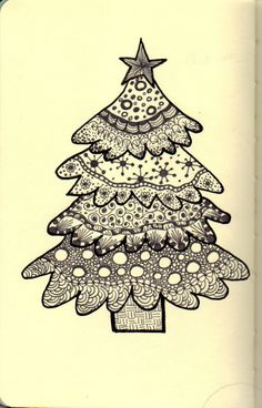 Zentangle Pattern Gallery | It's a good thing I copied it at this stage because I went on to add ...