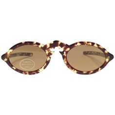 9ab0793069 Preowned New Vintage Jean Lafont Tortoise Cat Eye Sunglasses 1980 s...  ( 499) ❤ liked on Polyvore featuring accessories