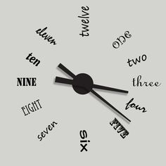 HGTV Removable Vinyl Wall Decal Clock Kit