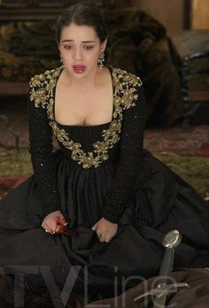"""Reign -- """"Burn"""" -- Image Number: -- Pictured: Adelaide Kane as Mary, Queen of Scotland and France -- Photo: Sven Frenzel/The CW -- © 2015 The CW Network, LLC. All rights reserved. Adelaide Kane, Reign Season 2, Marie Stuart, Reign Tv Show, Reign Mary, Reign Dresses, Reign Fashion, Costume Design, Adele"""