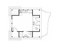 Floor plan of a small cabin in the woods on Orcas Island by David Vandervort